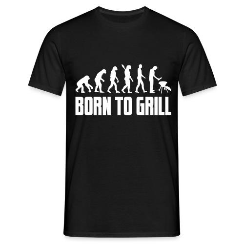 born to grill evolution - Männer T-Shirt