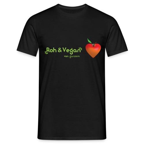 Roh & Vegan rotes Apfelherz (Rohkost) - Männer T-Shirt