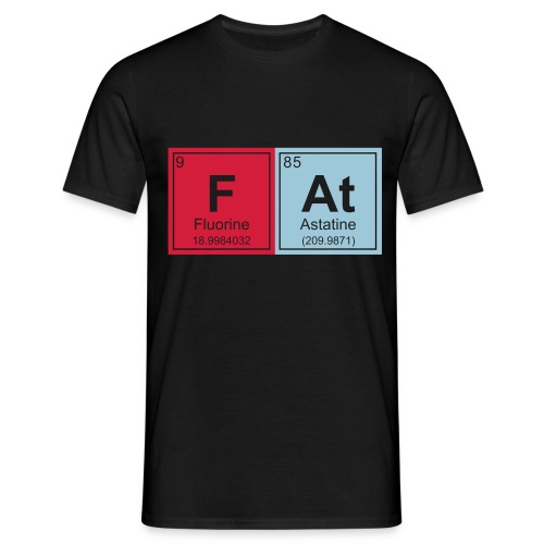 Geeky Fat Periodic Elements - Men's T-Shirt