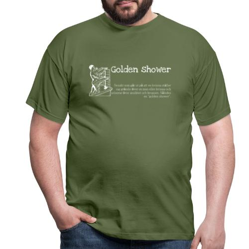 Golden shower - T-shirt herr