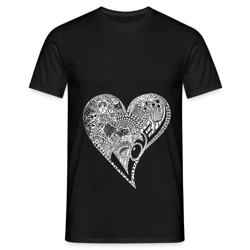 Heart white - Männer T-Shirt