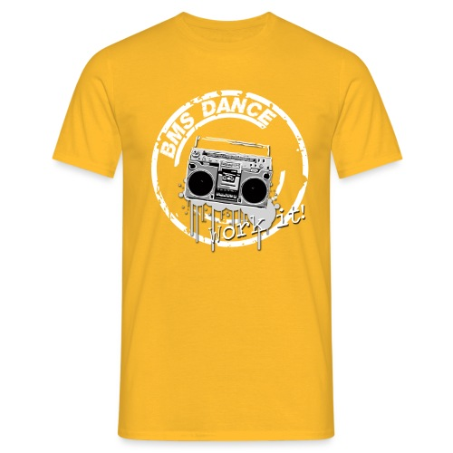 BMS Dance grey - Mannen T-shirt