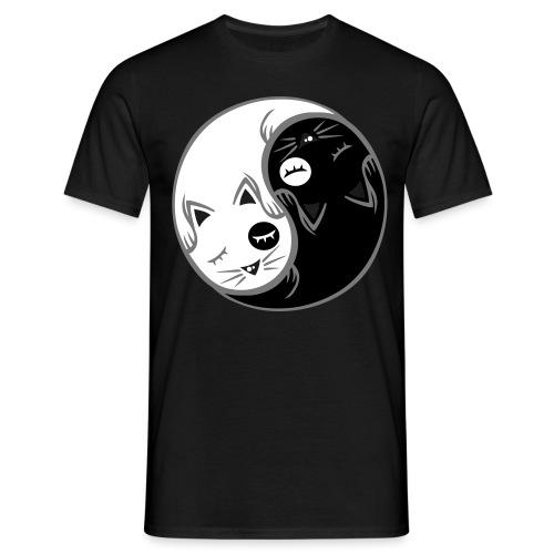 Yin Yang katze flex - Männer T-Shirt