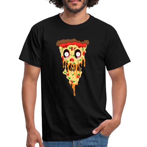 Schockierte Horror Pizza - Männer T-Shirt