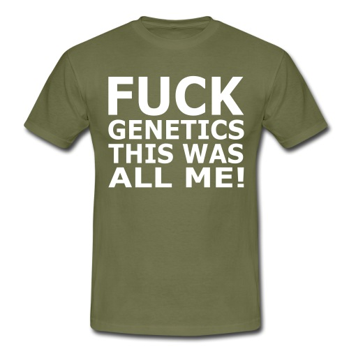 Fuck Genetics Gym Fitness Crossfit - Männer T-Shirt