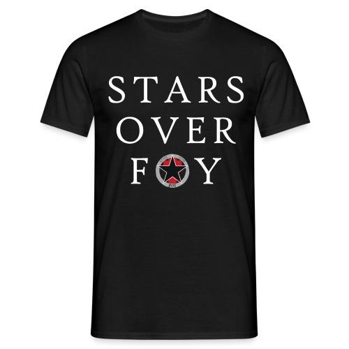 stars large text logo center - Men's T-Shirt