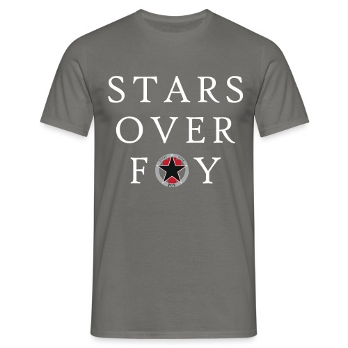 stars large text logo center - Men's T-Shirt