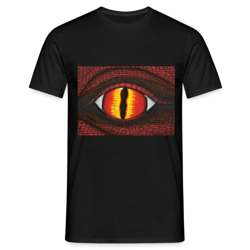rotes Drachenauge - Männer T-Shirt