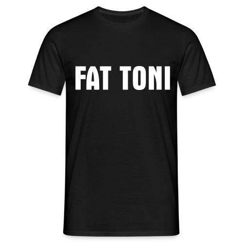 FAT TONI Logo weiss - Männer T-Shirt