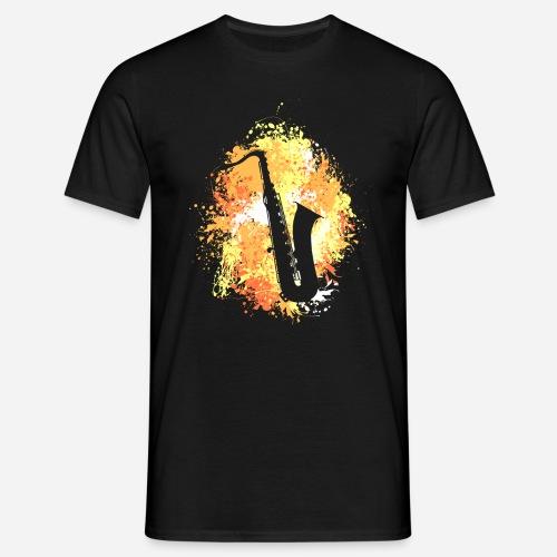 Splash Saxophon - Männer T-Shirt