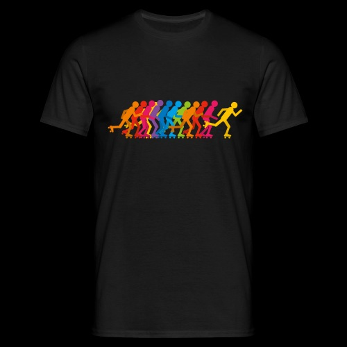 Rollerskating silhouettes - T-shirt Homme