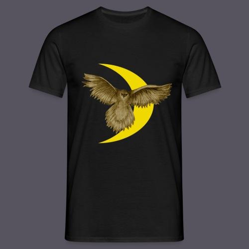 Mondsichel mit Eule - Männer T-Shirt