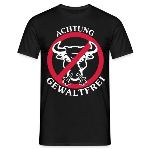 Achtung Gewaltfrei - Männer T-Shirt