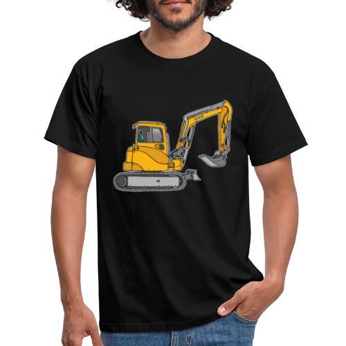 BAGGER, gelbe Baumaschine mit Schaufel und Ketten - Männer T-Shirt