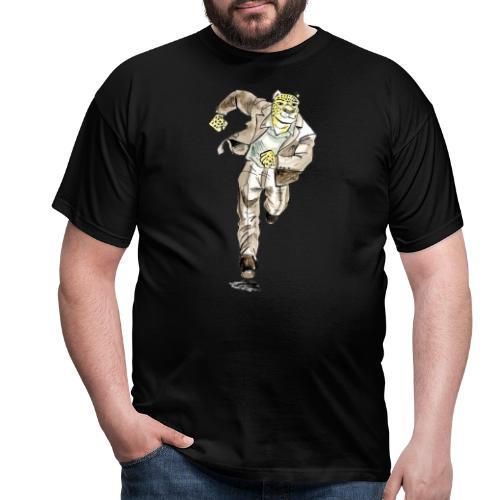 guépard caricature en aquarelle qui coure - T-shirt Homme