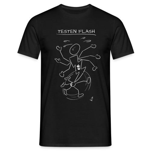 Testen Flash Weiss - Männer T-Shirt
