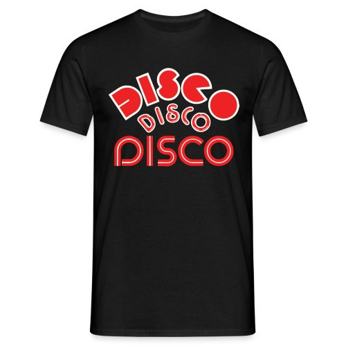 disco 123 4 black - Men's T-Shirt