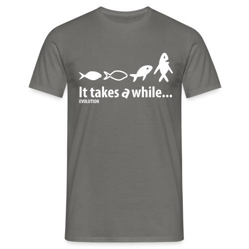 Evolution   Wit   M - Mannen T-shirt