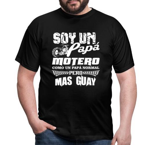 Soy un papá motero - Camiseta hombre