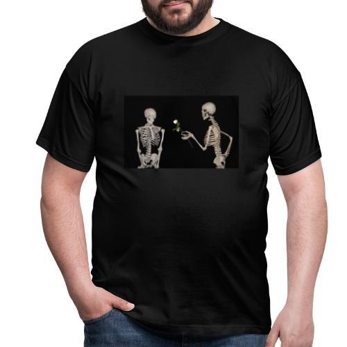 Skelett Gothic Valentinstag - Männer T-Shirt