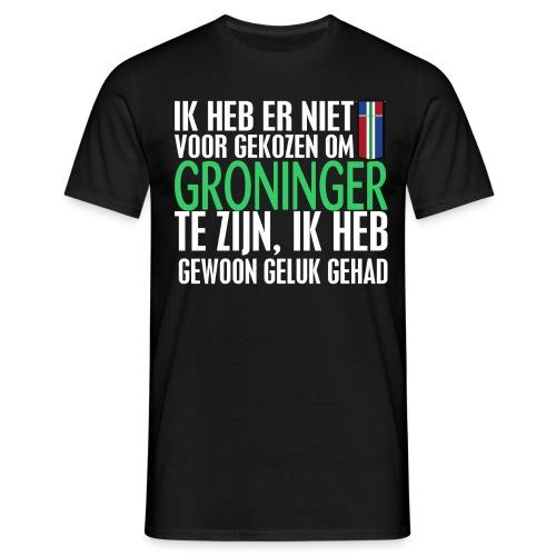 Heb er niet voor gekozen om Groninger te zijn... - Mannen T-shirt
