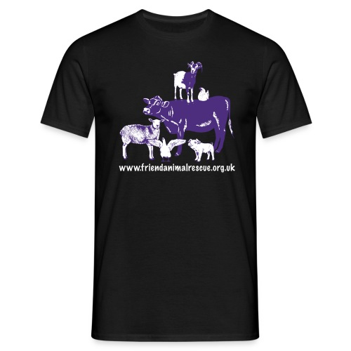 FRIEND animals url purple - Men's T-Shirt