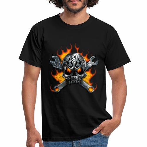 skull with crosstools - Miesten t-paita