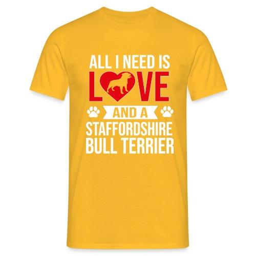 STAFFORDSHIRE BULLTERRIER-LOVE - Männer T-Shirt