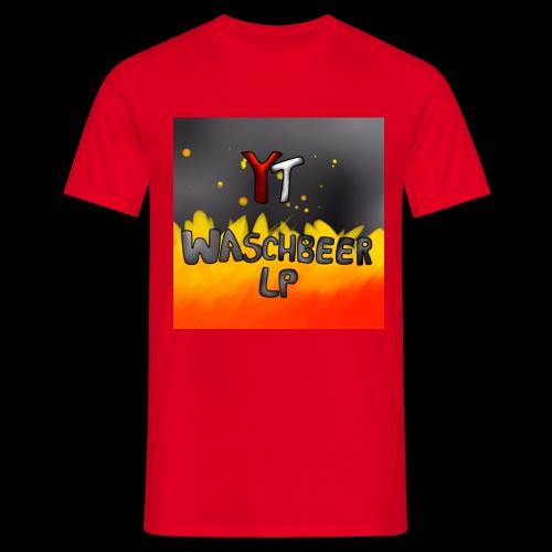 Waschbeer Design 2# Mit Flammen - Männer T-Shirt