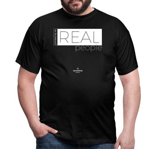 Real in white - Men's T-Shirt