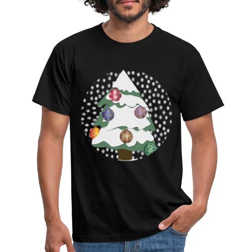 Christmas tree in snowstorm - Men's T-Shirt