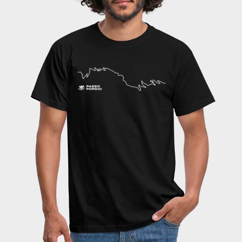 Pordoijoch - Line Design - Männer T-Shirt
