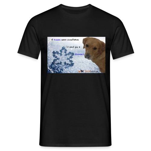 Golden Retriever tra i fiocchi di neve - Maglietta da uomo