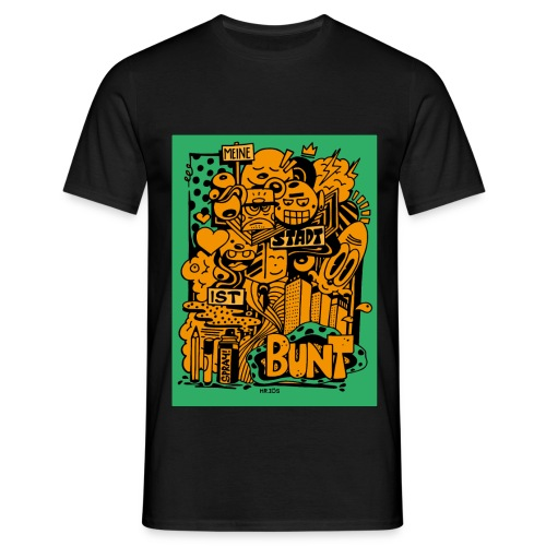 Meine Stadt ist bunt - Männer T-Shirt