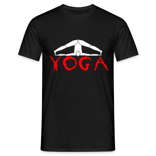 yoga yogi sport bianco namaste amore pace hippie - Maglietta da uomo