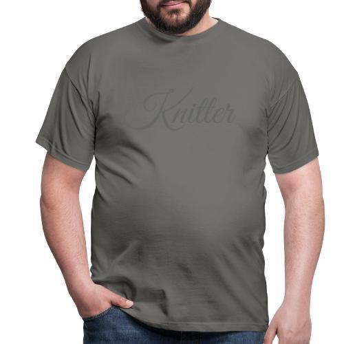 Knitter, dark gray - Men's T-Shirt