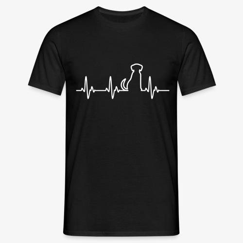 Hunde Herz - Männer T-Shirt