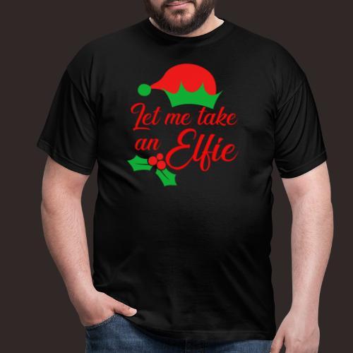 Weihnachten | Elf Mütze Weihnachtself Wortspiel - Männer T-Shirt
