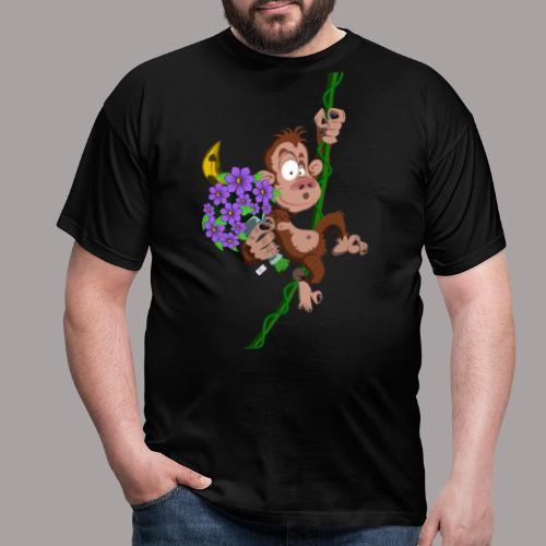 bouquet de fleurs - singe - T-shirt Homme