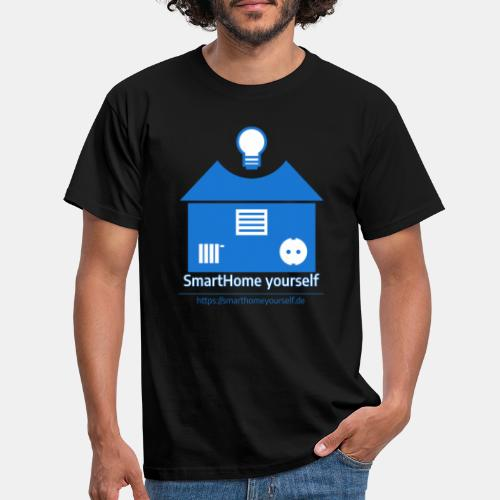 SmartHome yourself Logo Groß - Männer T-Shirt