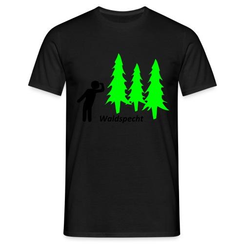 Waldspecht 2-farbig Kopie - Männer T-Shirt