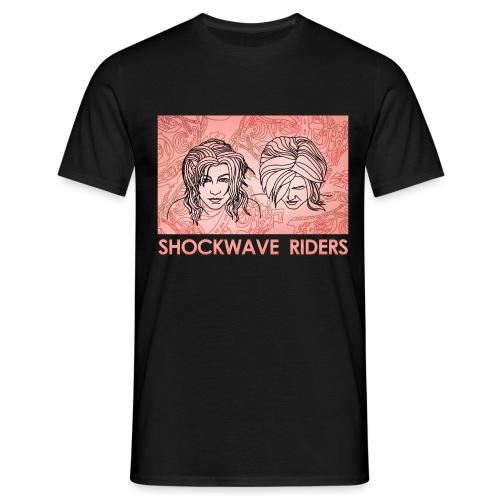 Shockwave Riders Faces orange - Männer T-Shirt