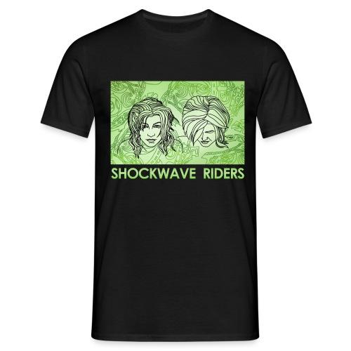 Shockwave Riders Faces green - Männer T-Shirt
