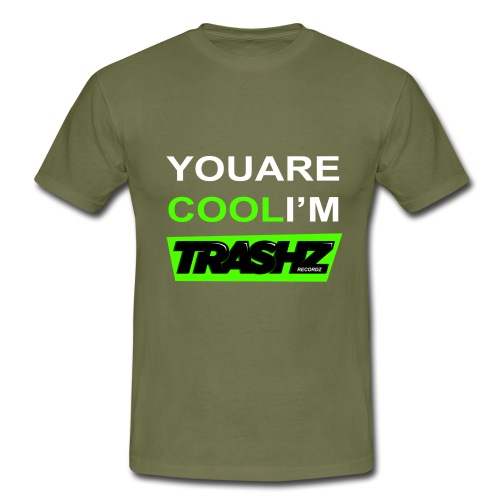 yourecoolthisrt test2 white green png - Men's T-Shirt