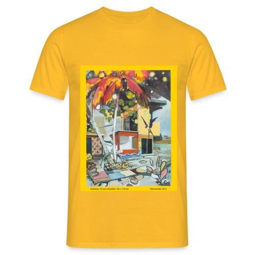 Einklang Öl auf Leinwand - Männer T-Shirt