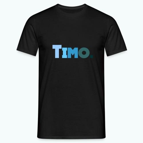 Timo in blauwe tinten - Mannen T-shirt