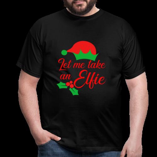 Weihnachten   Elf Mütze Weihnachtself Wortspiel - Männer T-Shirt