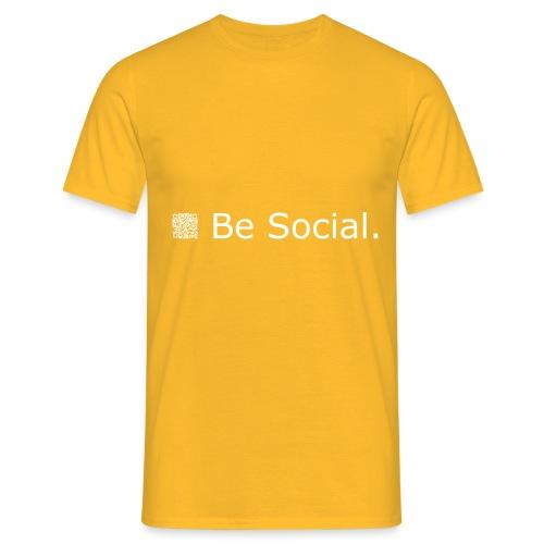 be social qr code liggend printwhite 20c - Men's T-Shirt