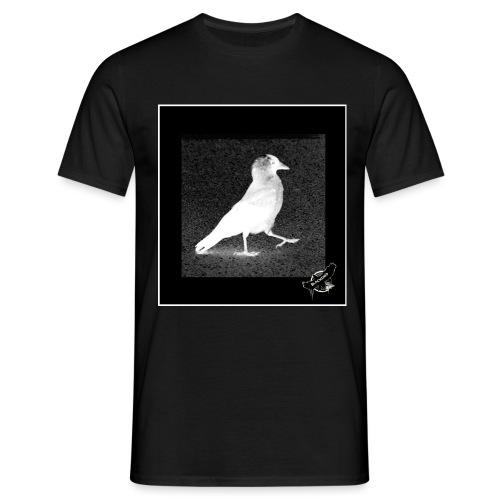 Cool Jackdaw by BlackenedMoonArts, w. logo - Herre-T-shirt