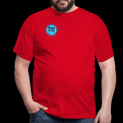 Stay Home (Blue) - Men's T-Shirt